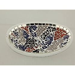 Centro de mesa de cerámica y cristal