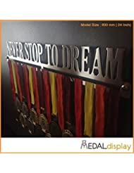Never Stop to Dream | Puerta medallas/medallón de pared medaldisplay Medal Hanger