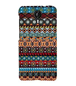 Fuson Designer Back Case Cover for Micromax CanvasNitro4G E371 ( Ethnic Pattern Patterns Floral Decorative Abstact Love Lovely Beauty )