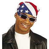 NET TOYS Amerika Kopftuch USA Bandana Stars and Stripes Kopfbedeckung Männer Herrenkopftuch Rocker Biker Haube Tuch Kostüm Accessoire Easy Rider