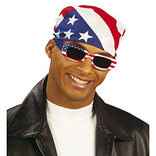 NET TOYS Amerika Kopftuch USA Bandana Stars and Stripes Kopfbedeckung Männer Herrenkopftuch Rocker Biker Haube Tuch Kostüm Accessoire Easy Rider (Biker Kostüm Männer)