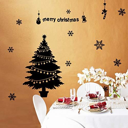 DADADUR Wandaufkleber Wanddekoration Weihnachten Baum Wand Aufkleber Für Glas Fenster Frohe Weihnachten Kunst Wohnkultur Aufkleber Tapete Dekoration Aufkleber