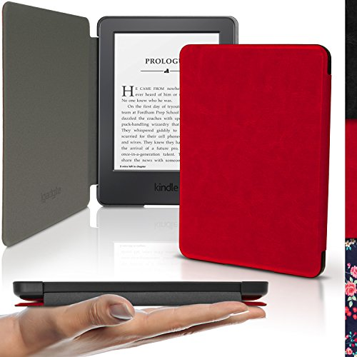 igadgitz-red-slim-pu-leather-shell-case-cover-for-amazon-kindle-e-reader-6-2016-with-sleep-wake-magn