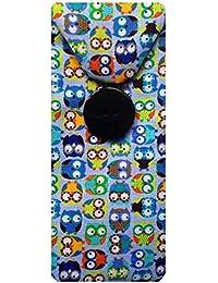 Azul Funda para gafas diseño de búhos