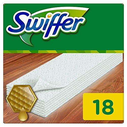 SWIFFER Pqt 18 Lingettes sèche boiserie & parquet à la cire d'abeille