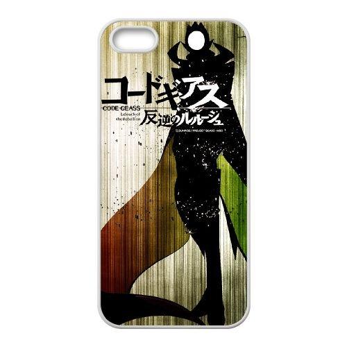 Code Geass coque iPhone 5 5S Housse Blanc téléphone portable couverture de cas coque EBDXJKNBO17717