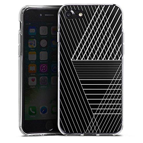 Apple iPhone X Silikon Hülle Case Schutzhülle Linien Striche Geometrisch Silikon Case transparent