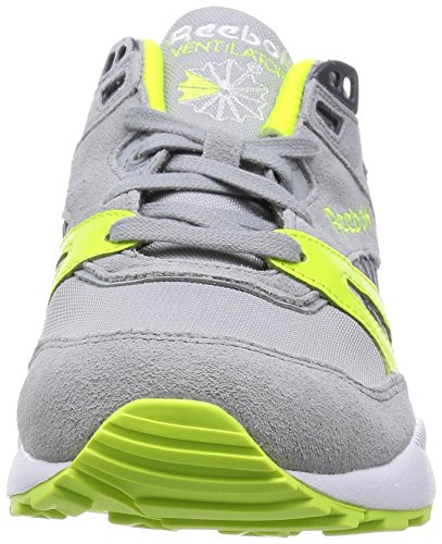 Reebok Ventilator Pop, Chaussures de Running Entrainement Homme Gris (baseball Grey/solar Yellow/graphite/white)
