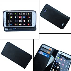 i-KitPit PU Leather Wallet Flip Case For Sony Xperia GO (BLACK)