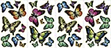 Wall Pops Stickers muraux phosphorescents repositionnables Papillons