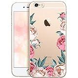 OOH!COLOR Bumper Compatible pour iPhone 6S Plus, Coque iPhone 6 Plus Silicone Fleur...