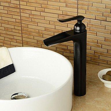 SHUILT Zeitgenössischen Stil ORB Single Griff ein Loch heiß und kaltes Wasser Bad Waschbecken Wasserhahn , 58 x 8 cm -