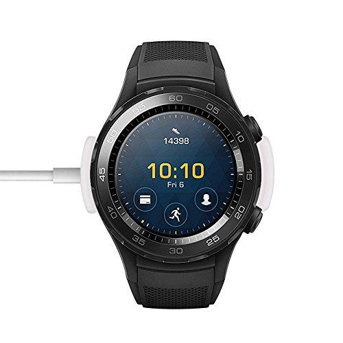 Huawei Watch 2 Ladestation, Lamshaw Smartwatch Zubehör Ersatz-Ladegerät Charging Dock für Huawei Watch 2 (Weiß)