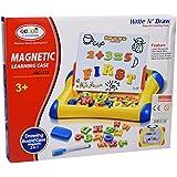 Juguete educativo 2 in 1 ABC Pizarra magnética Infantil Tablero de escritura Imán Números Letras juguete