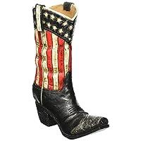 Burton & Burton Patriotic Western Cowboy Boot Vase Decorative Home Decor Great for Events