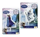 Disney Frozen Kuchenkerzen im 2er Set Anna, Elsa & Olaf mit Plastikständer