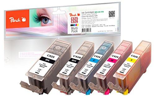 Peach C525/C526 bk, c, m, y, pbk Spar Pack Druckerpatronen, XL-Ergiebigkeit