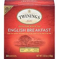Twinings Tea English Breakfast Tea, 50 ct