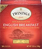 Twinings Tea English Breakfast Tea, 50 ct