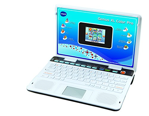 Vtech-133845-Ordinateur-Pour-Enfants-Genius-Xl-Color-Pro-Bilingue-Argent