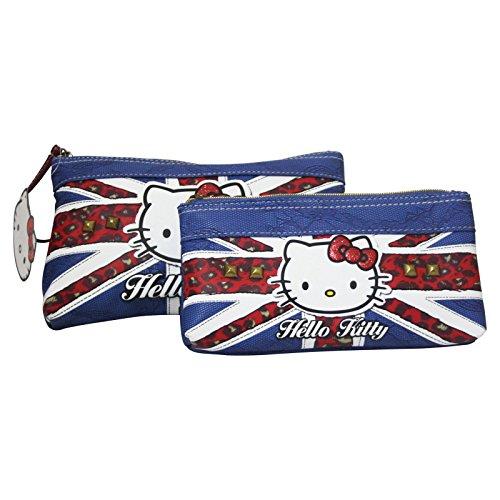 Helly Kitty England Set Zwei Feder Tasche Kosmetik Make-up Bag Aufbewahrungtasche - Hello Kitty Kosmetik-set