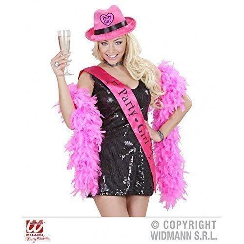 Gangsterhut in pink - Samtoptik mit Herzaufnäher
