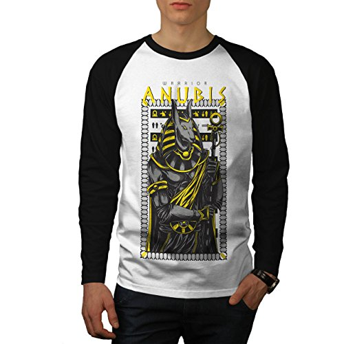 Anubis Alt Gott Mode Herren M Baseball lange Ärmel T-Shirt | (Anubis Weibliche Kostüm)