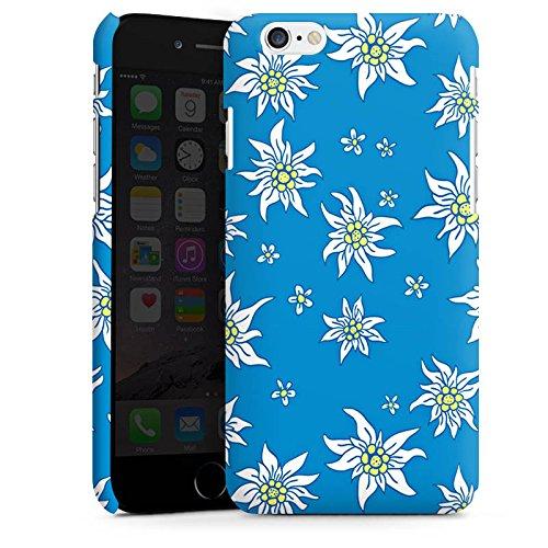 Apple iPhone X Silikon Hülle Case Schutzhülle Blumen Edelweiss Sommer Premium Case matt