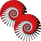 Zomo Panno Dipinto per Giradischi,Rosso, Confezione da 2
