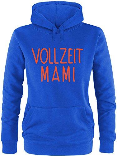 EZYshirt® Vollzeit Mami Damen Hoodie Royal/Orange