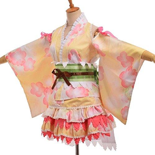 mi Hanayo Kimono Ribbon Bademantel Cosplay Liebe Live YUKATA Serie (Schwangere Katze Kostüm)