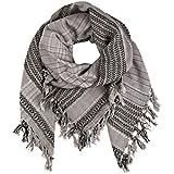 becksöndergaard Quadratischer Schal / Tuch Azalea in hellgrau und schwarz ( Light Grey ) aus weicher Baumwolle 115x115 cm 1607607001-007