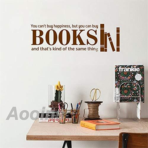 Sie können kaufen Bücher Glück motivierend Zitat Wandtattoos inspirierende Spruch Vinyl Kunst Aufkleber Schule Bibliothek Klassenzimmer Dekor 2 56 * 17 cm