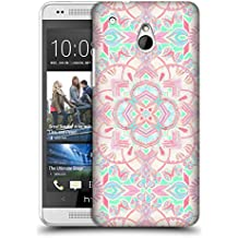 Official Micklyn Le Feuvre Mint And Blush Pink Painted Mandala 2 Hard Back Case for HTC One mini