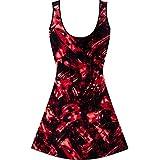 TYR  Girls In Emulsion Frksuit Swim Active 24 ( Red /Black )