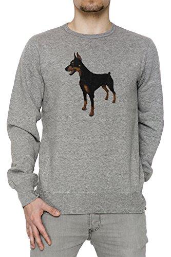 doberman-pinscher-cane-razza-uomo-grigio-felpa-felpe-maglione-pullover-grey-mens-sweatshirt-pullover