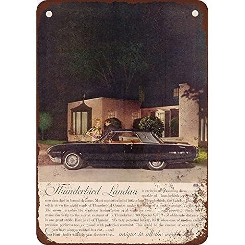 1962Ford Thunderbird LanDau Look Vintage Riproduzione in metallo Tin Sign 17,8x 25,4cm