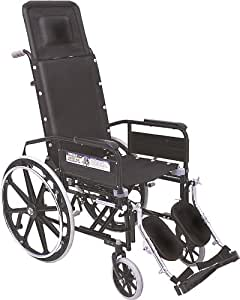 Vissco Invalid Reclining Wheel Chair with Elevated Footrest - Universal