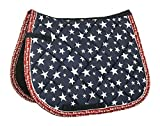 HKM Sports Equipment Bibi & Tina Schabracke -Bibi&Tina Stars-, Jeansblau, Shetty