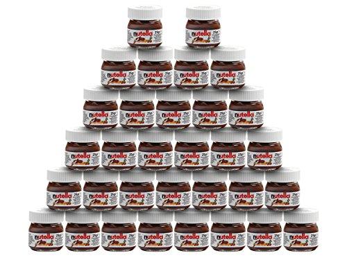 Nutella Mini Glas Set 1-32 Ferrero Brotaufstrich Minigläser-Set klein Schokolade 25 g kleine Packung, Variante wählen:32x Mini Nutella 25g