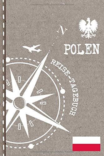 Polen Reisetagebuch: Reise Tagebuch zum Selberschreiben, ca. A5 - Journal Dotted Punkteraster, Bucket List für Urlaub, Ferien Trip, Auslandsjahr,  Auswanderer - Notizbuch Dot Grid punktiert