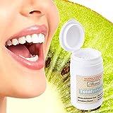 sunnymi Zahnpulver Weiß Werden,Zähne Whitening Powder Natürliche Organische Aktivierte Holzkohle Bambus Zahnpasta (Weiss, 70g)