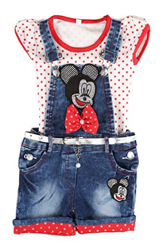 ab8213ccc10 Arshia Fashions girls partywear top and denim dungaree set - Fashion ...