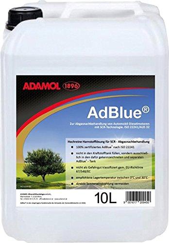 Preisvergleich Produktbild ADAMOL 1896 90140145 Adblue,  Inklusive Füllschlauch,  10 L