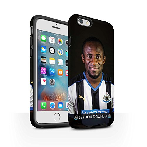 Offiziell Newcastle United FC Hülle / Matte Harten Stoßfest Case für Apple iPhone 6+/Plus 5.5 / Pack 25pcs Muster / NUFC Fussballspieler 15/16 Kollektion Doumbia