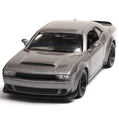 GUANGYING 1:36 Dodge Challenger Simulation Automodell Automodell Spielzeug Zurückziehen Autotür Kann Geöffnet Werden -