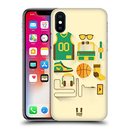 Head Case Designs Ciclismo Kit Del Principiante Cover Retro Rigida per Apple iPhone X Basket