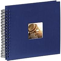 Hama Fine Art Album Fotografico a Spirale, 50 Pagine, 28 x 24 cm, colore blu