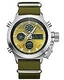 Relojes Deportivos para Hombre Digital Analógico Resistente al Agua Gran Cara Militar Reloj de Pulsera Gents Alarm LED cronómetro Relojes Casual Multifunción