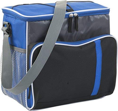 Kühltasche XXL für Flaschen 33x33x23cm Isoliertasche mit Gurt Thermo Picknicktasche Netztasche (Kobaltblau)